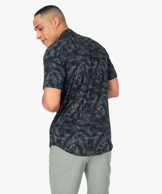 Chemise homme imprimée à manches courtes